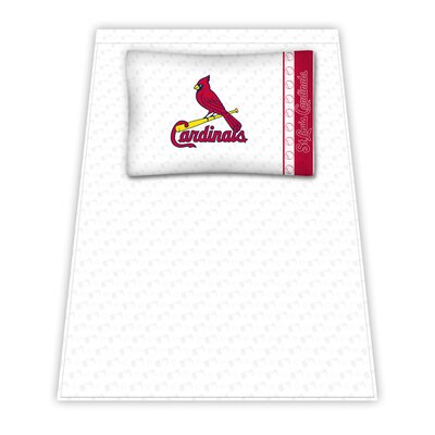 Sports Coverage St. Louis Cardinals Micro Fiber Sheet Set | Wayfair