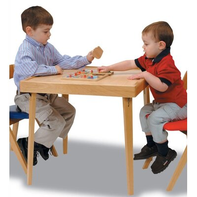 Stakmore Company, Inc. Children's Wood Folding Table in Natural