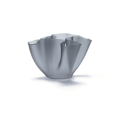 FontanaArte Cartoccio Vase Frosted Glass in Grey