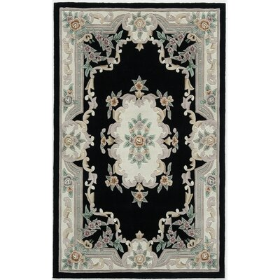 New Aubusson Black Rug