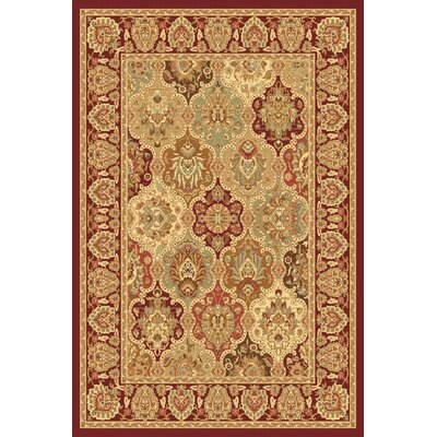 Rugs America New Vision Cherry Panel Rug