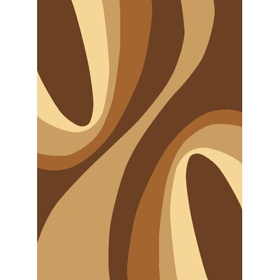 Rugs America Torino Brown Swirls Rug