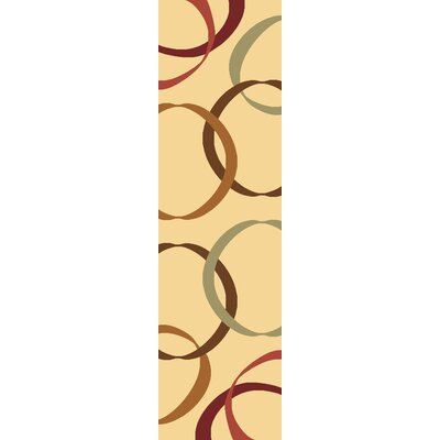 Rugs America Torino Cream Ribbons Rug