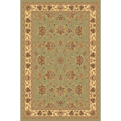Sorrento Light Green Kashan Rug