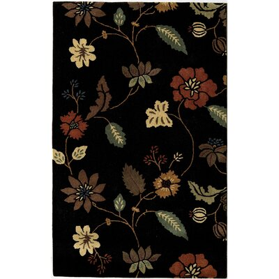 Rugs America Pacific Black Tropical Rug