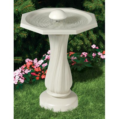 Allied Precision Industries Water Rippling Bird Bath with Pedestal and Water Wiggler
