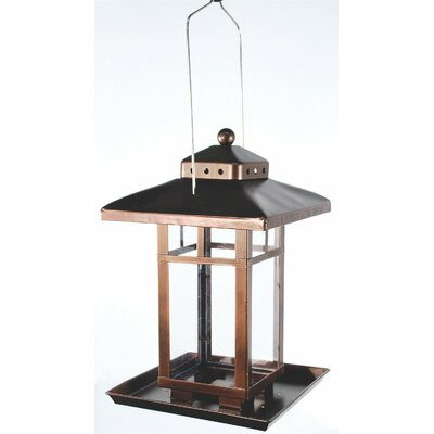 Metal Square Lantern Bird Feeder