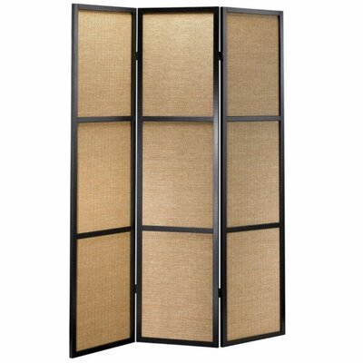 "Adesso 70"" x 52"" Haiku Folding 3 Panel Room Divider"