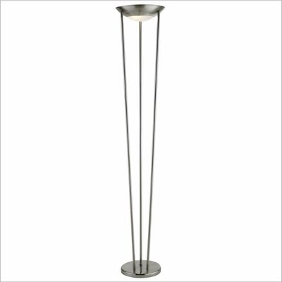 Adesso Odyssey Floor Lamp in Satin Steel