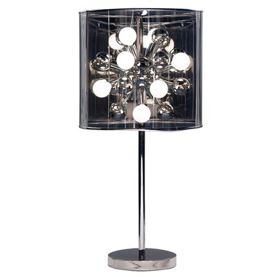 "Adesso Starburst 28.5"" H Table Lamp with Drum Shade"