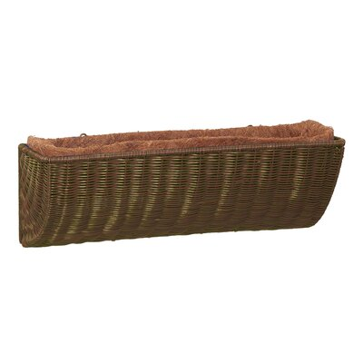 Resin Wicker Wall Basket