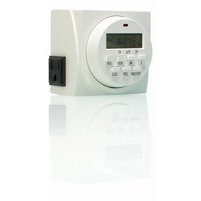 Hydrofarm 7 Day Dual Outlet Digital Timer