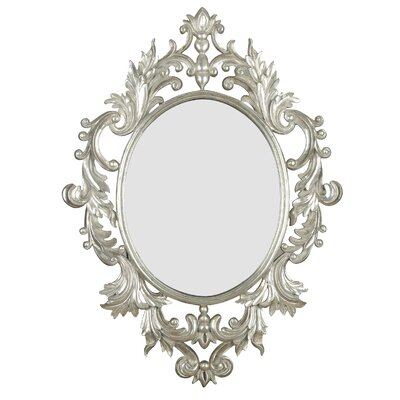 Kenroy Home Louis Wall Mirror in Silver Leaf