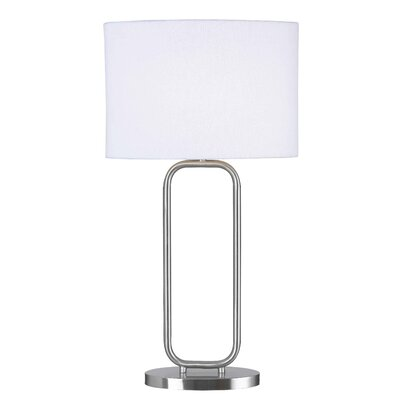 Kenroy Home Duet Table Lamp in Brushed Steel