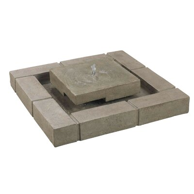 Kenroy Home Belgian Block Resin Floor Fountain