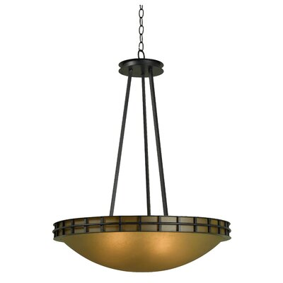Pane 5 Light Inverted Pendant