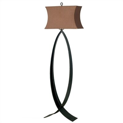 Kenroy Home Pisces  Floor Lamp with Cinnamon Shade