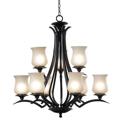 Kenroy Home Bienville 9 Light Chandelier