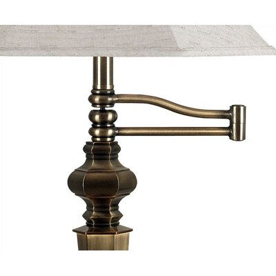 Kenroy Home Mackinley Swing Arm Table Lamp in Georgetown Bronze