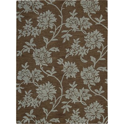 Nourison Skyland Chocolate Flower Rug