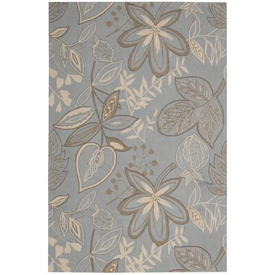 Nourison Fantasy Light Grey/Blue Rug