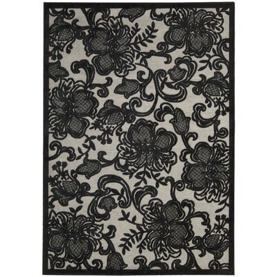 Nourison Graphic Illusions Pewter Rug