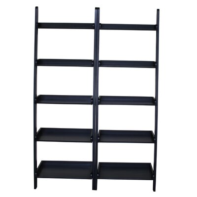 "International Concepts Leaning 75.5"" Bookcase"