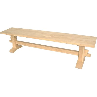 Solid Parawood Trestle Bench