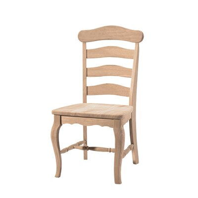 International Concepts Unfinished Wood Country French Side Chair (Set of 2)