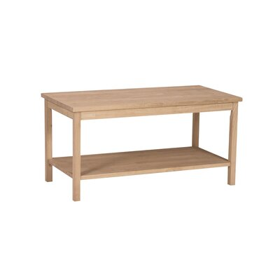 International Concepts Unfinished Wood Portman Coffee Table
