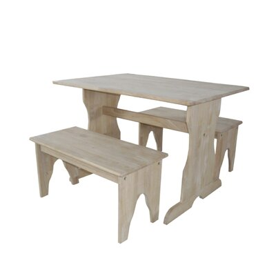 International Concepts Juvenile Kids' 3 Piece Table and Bench Set