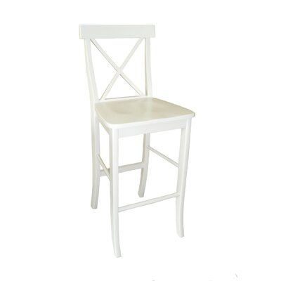International Concepts Dining Essentials X-Back Bar Height Stool