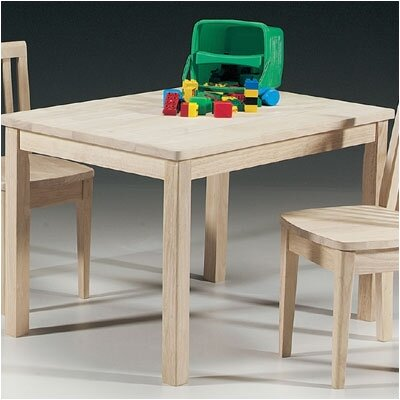 International Concepts Unfinished Wood Mission Juvenile Kids Writing Table