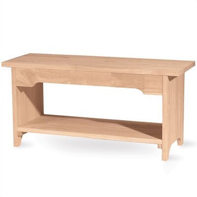 International Concepts Brookstone Wooden Bench
