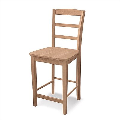 "International Concepts Unfinished Wood 29.5"" Bar Stool"
