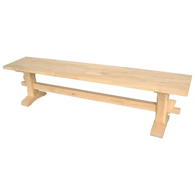 International Concepts Solid Parawood Trestle Bench