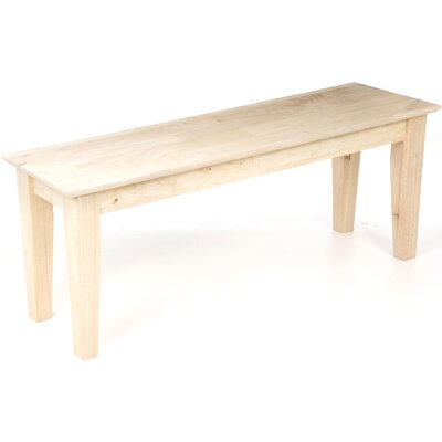 International Concepts Wooden Shaker Bench
