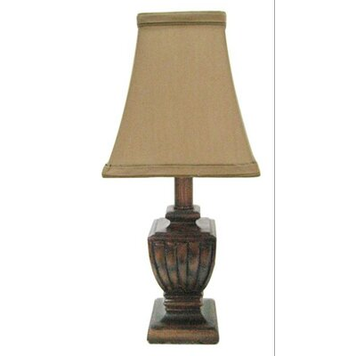 Fangio Lighting Resin Mini Lamp in Brown Wood Finish