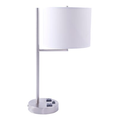 Fangio Lighting Table Lamp with Convenience Outlets