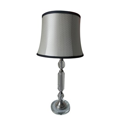 "Fangio Lighting 29"" H Table Lamp with Diamond Patterned Shade"