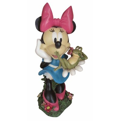 Woods International Disney Minnie Mouse with Frog Friend Statue