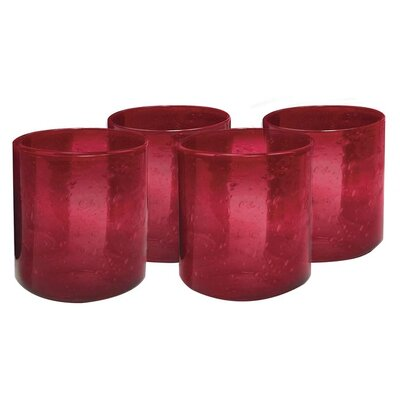 <strong>Artland</strong> Iris Double Old Fashioned Glass in Ruby (Set of 4)