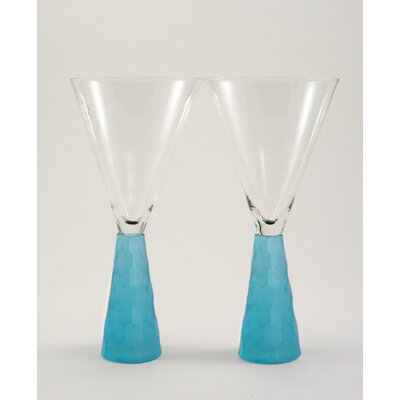 Artland Prescott Wine Glass in Aqua (Set of 2)
