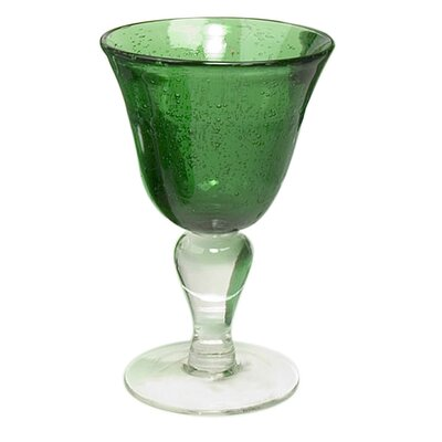 Iris Wine Glass in Green (Set of 4)