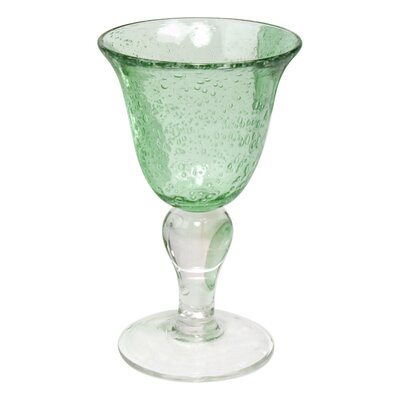 Iris Wine Glass in Light Green (Set of 4)