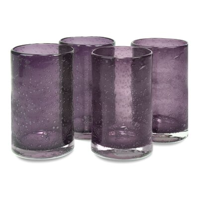 Artland Iris Highball Glass in Plum (Set of 4)