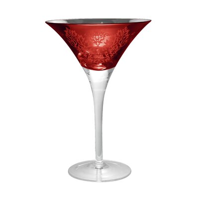 Artland Brocade Martini Glass in Red (Set of 4)