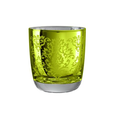 Artland Brocade Double Old Fashioned Glass in Lemon Grass (Set of 4)
