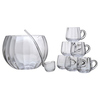 "Artland Simplicity 8"" 8 Piece Optic Punch Bowl Set"