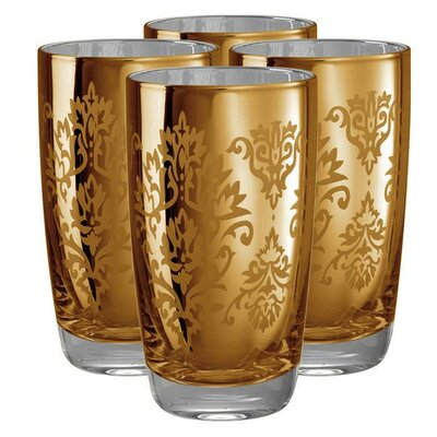 Artland Brocade Highball Glass in Gold (Set of 4)